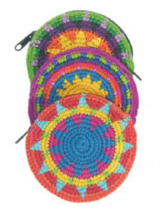 Hippy Purse~Purse Ethnic Guatemala Crochet Circle Coin Purse~Fair Trade by Folio Gothic Hippy 9005